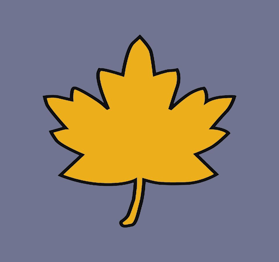 gold maple lleaf graphic