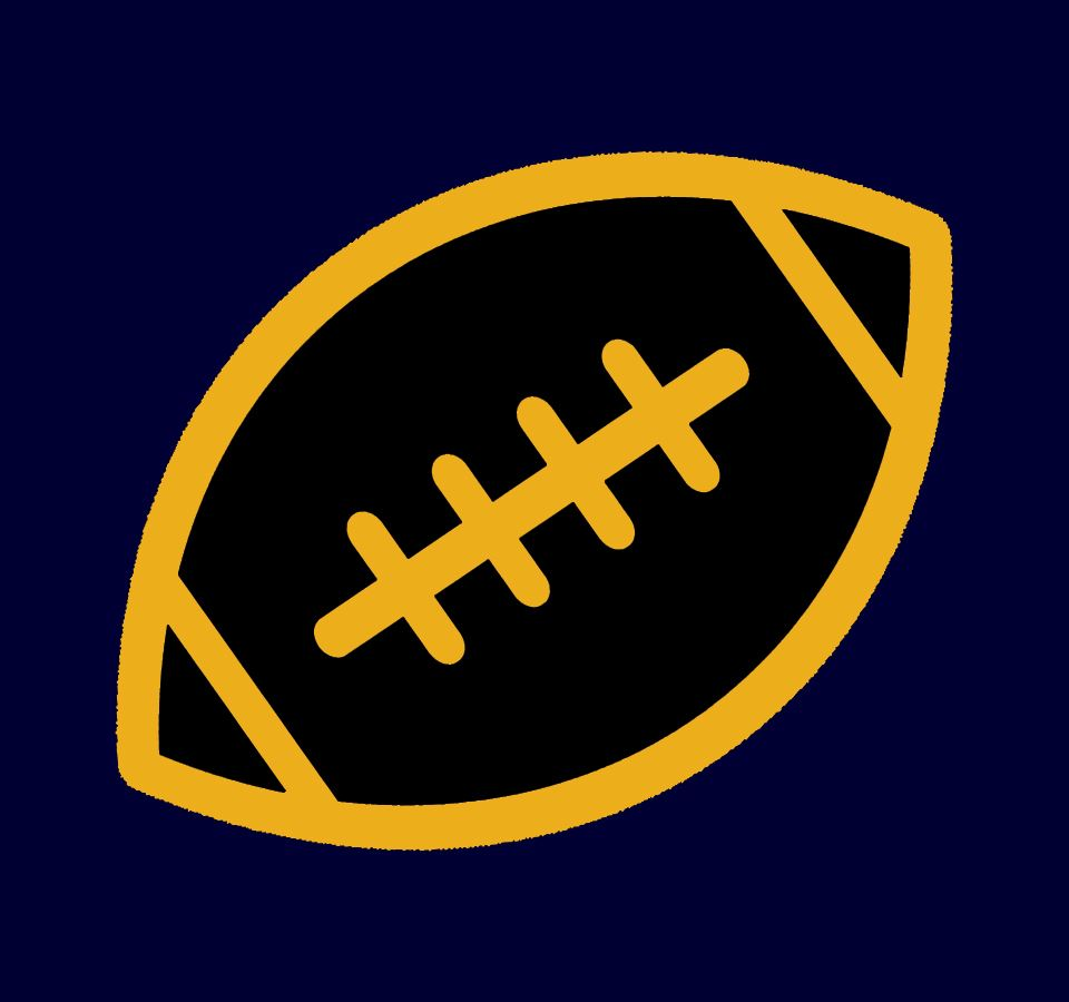 Black and gold football graphic